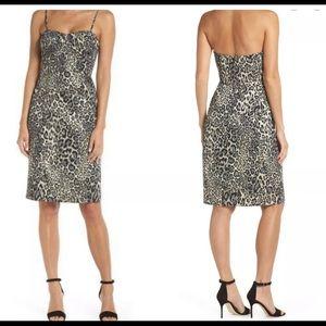 J.Crew Metallic Leopard Strapless Dress
